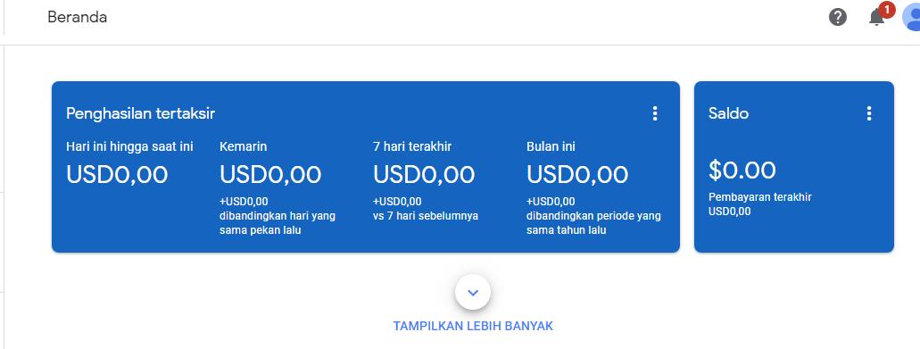 Beli  Produk Digital  AKUN Jual Adsense US $ Fresh - Gudangakun